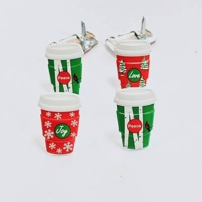 Holiday Coffee Cup Brads