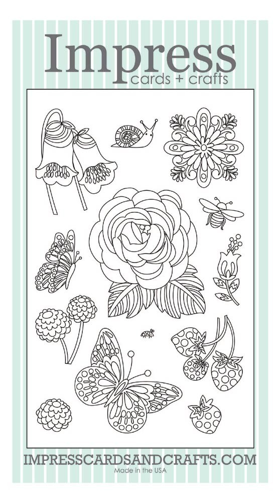 Coloring Book Clear Stamp Set