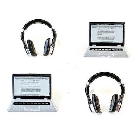 Laptop and Headphone Brads