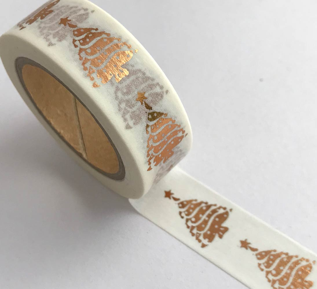 Copper Christmas Tree Washi Tape
