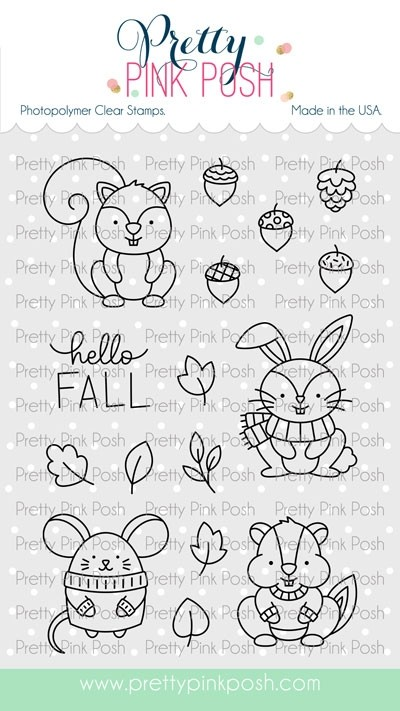 Pretty Pink Posh Cozy Fall Critters Stamp Set