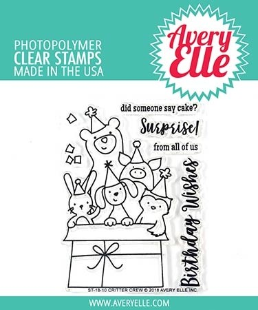 Avery Elle Critter Crew Clear Stamp