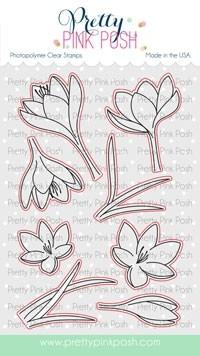 Pretty Pink Posh Crocus Flowers  die set