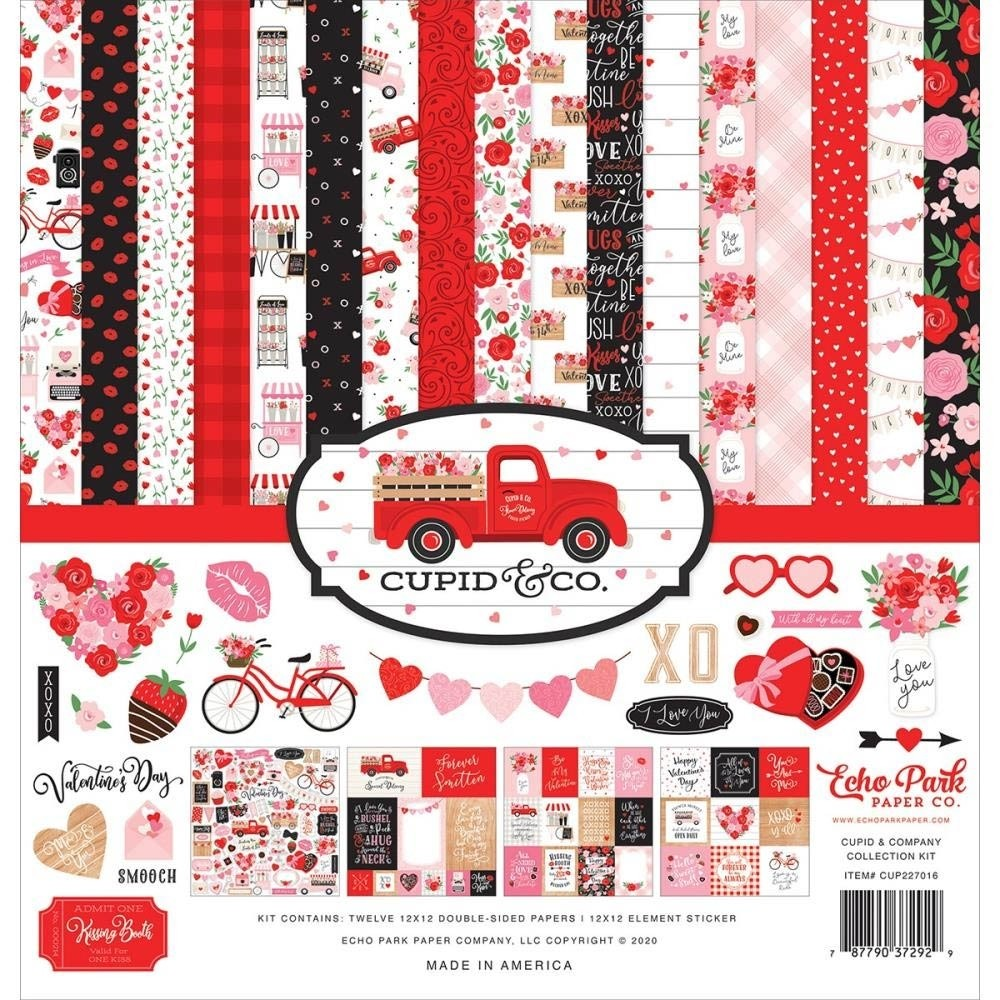 """Echo Park Cupid and Co Collection Kit 12""""X12"""""""