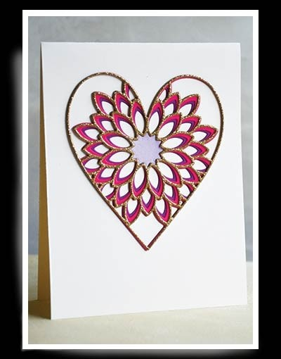 Birch Press Dahlia Heart Layer Set 56096