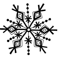 5591d - diamond sketch snowflake