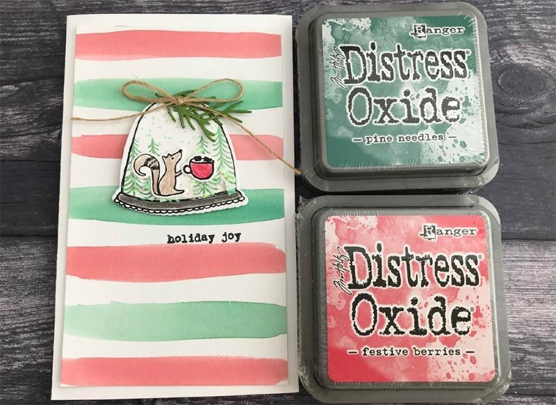 Distress Oxide for Christmas!