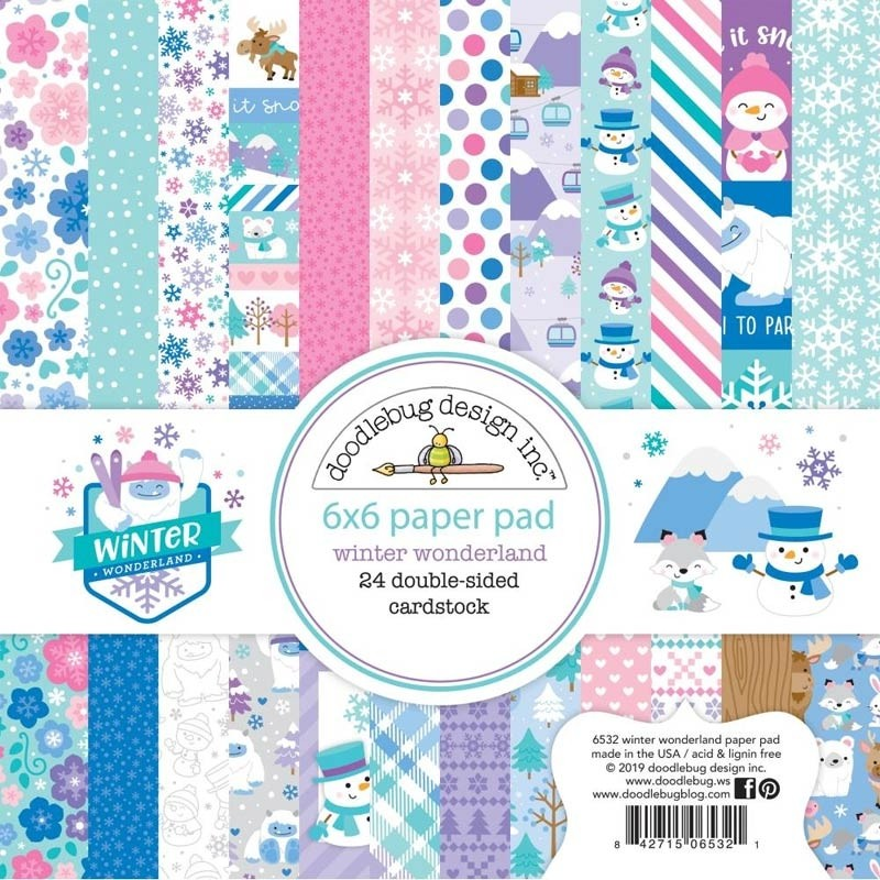 "Doodlebug Double-Sided Paper Pad 6""X6"" Winter Wonderland"