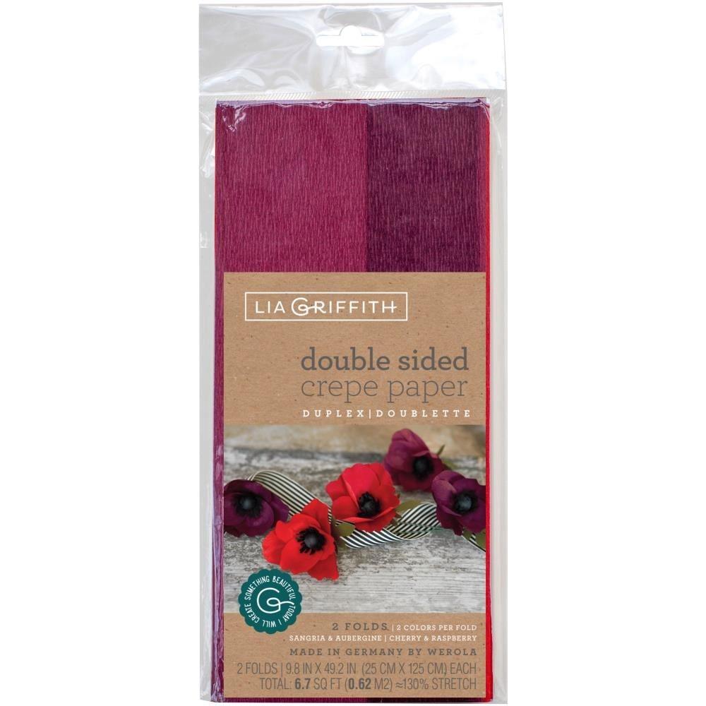doublette crepe paper - Sangria/Aubergine & Cherry/Raspberry