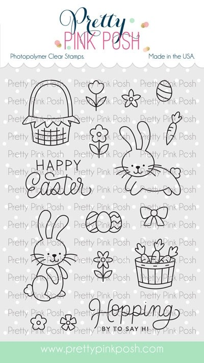 Pretty Pink Posh Easter Bunnies Stamp Set