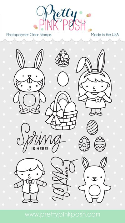 SALE - Pretty Pink Posh Easter Friends Clear Stamp Set