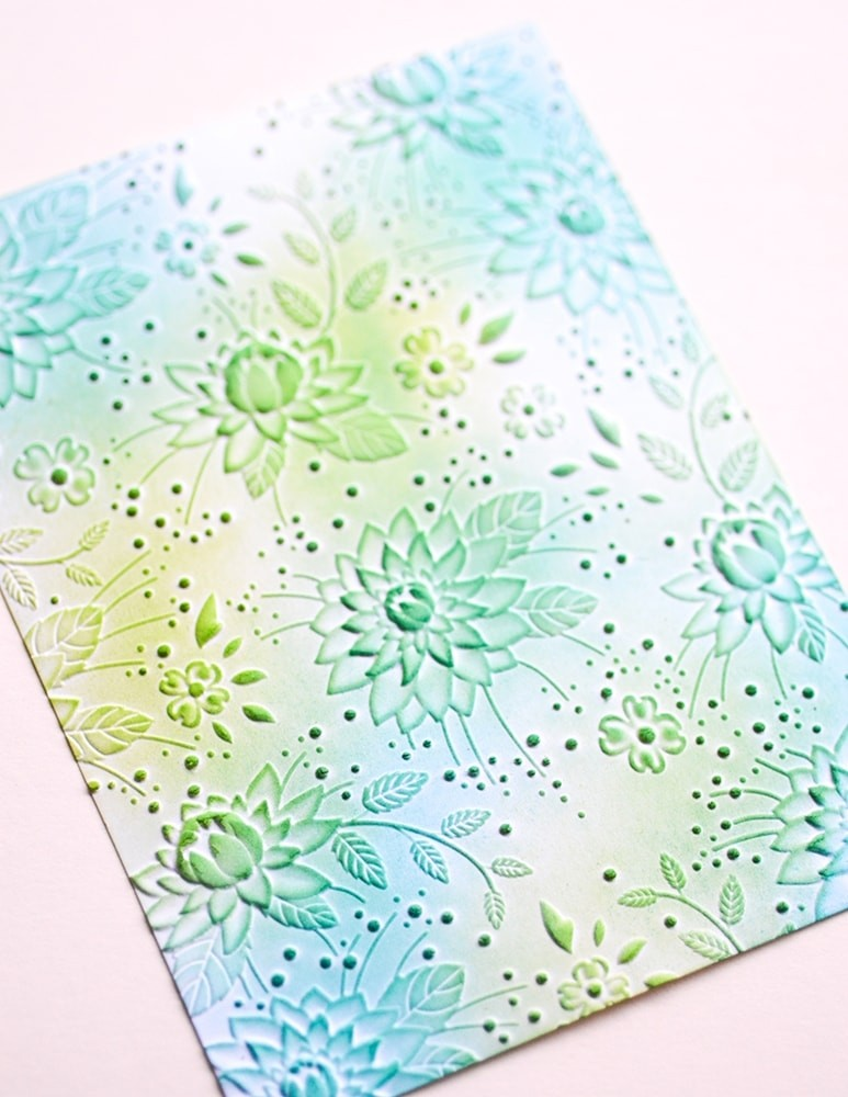 Chrysanthemum Field 3D Embossing Folder
