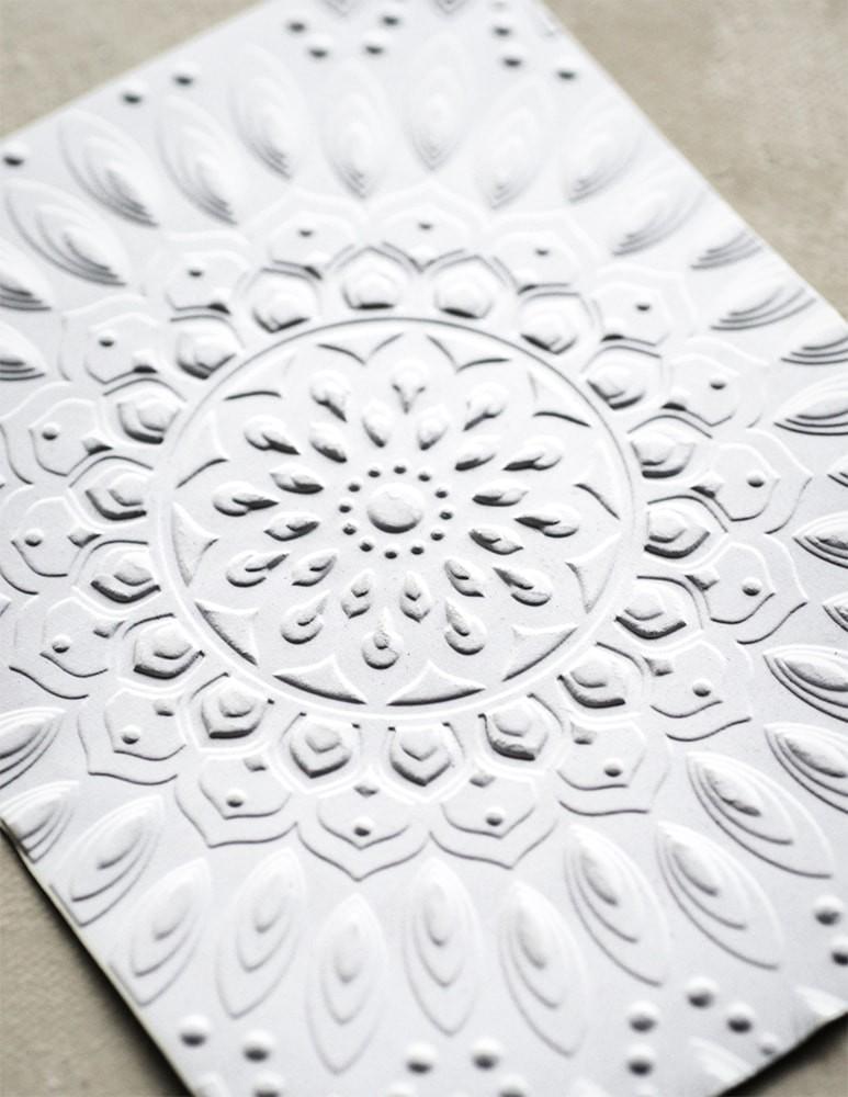 Serene Mandala 3D Embossing Folder