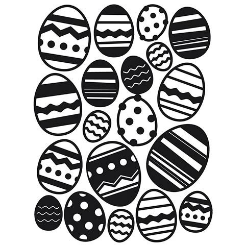 Easter Egg Embossing Folder