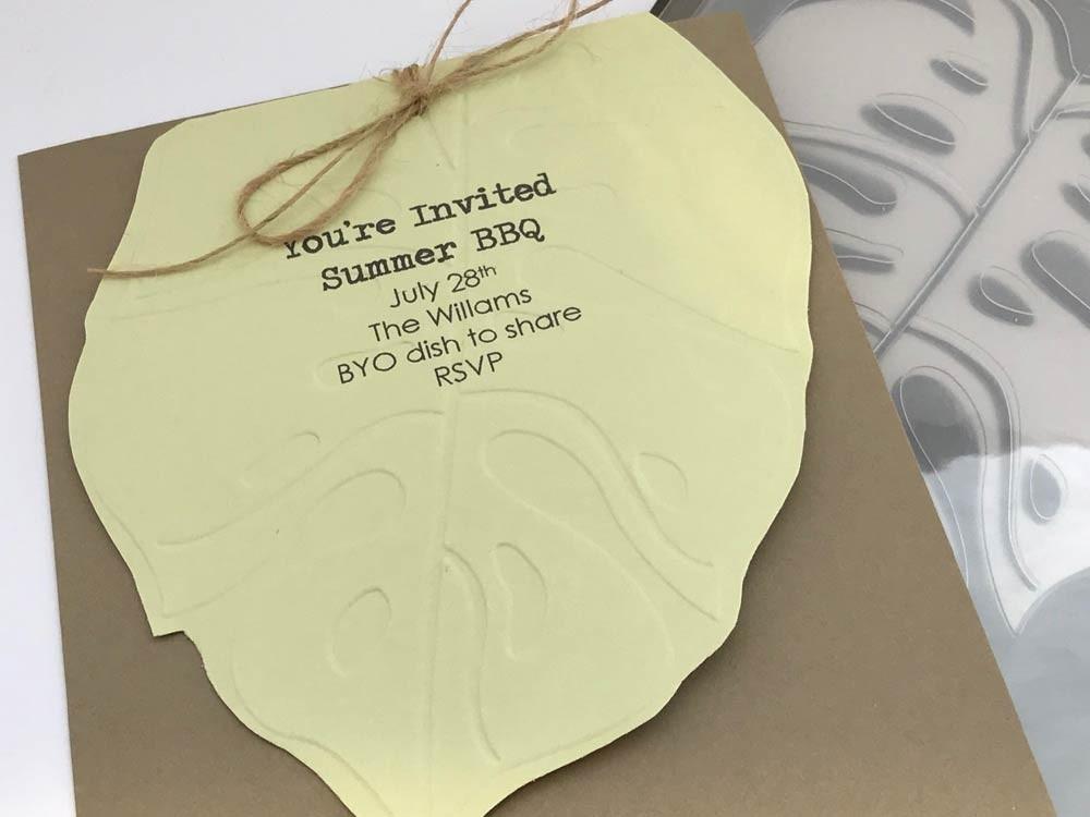 Elephant  Leaf Embossing Folder