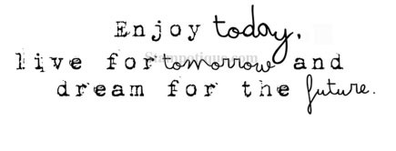 Stampoutique Enjoy today rubber stamp