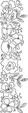 Blooming Sketch Border (F2037)