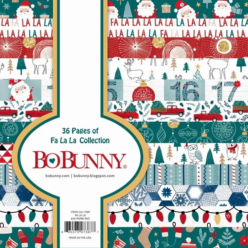 BoBunny Fa La La 6x6 Paper Collection