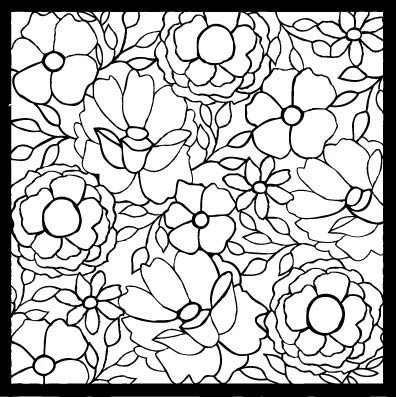 Flora and Fauna Floral Stencil 3 40010