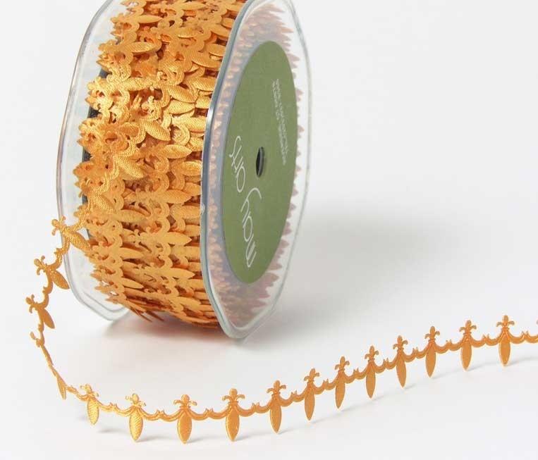 Gold Fleur De Lis ribbon
