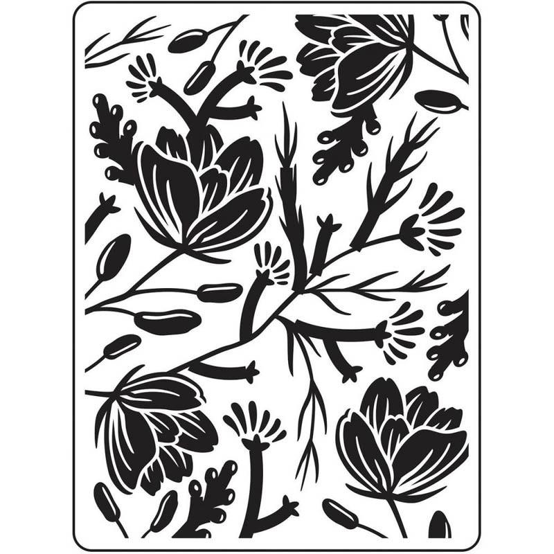 Flower Pod Embossing Folder