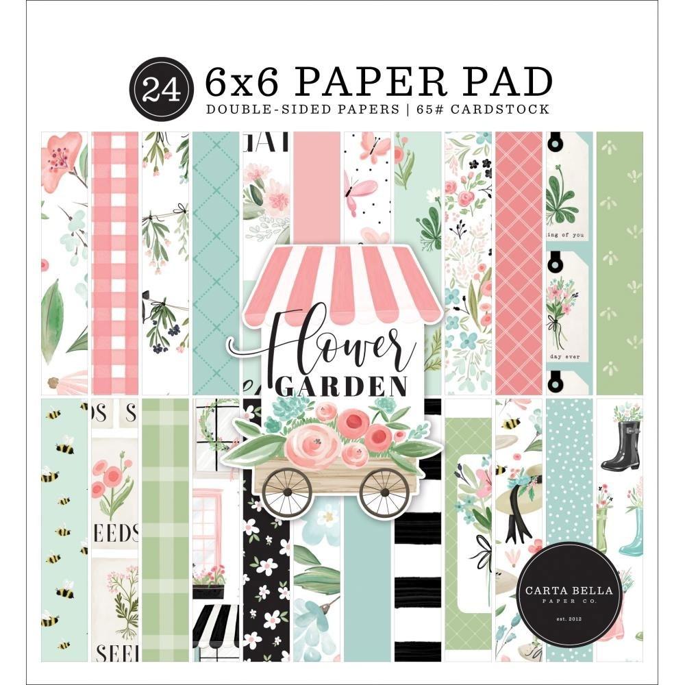 Carta Bella Flower Garden Paper Pad 6x6