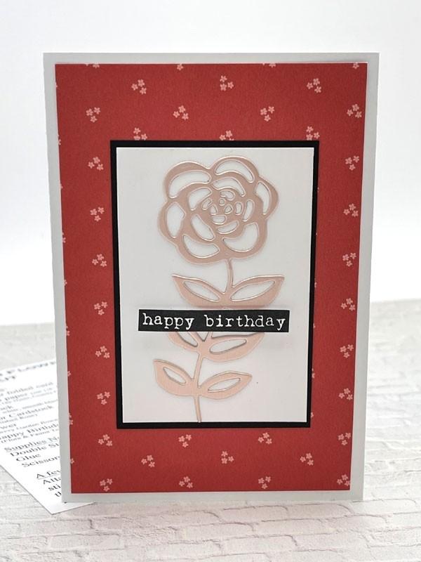 Single Card Kit - Garden Flower B-day