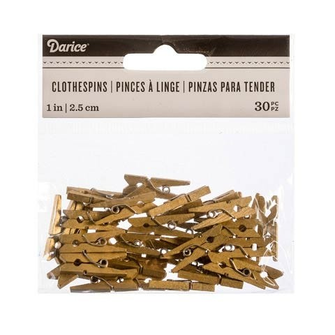 Mini Gold Clothespins