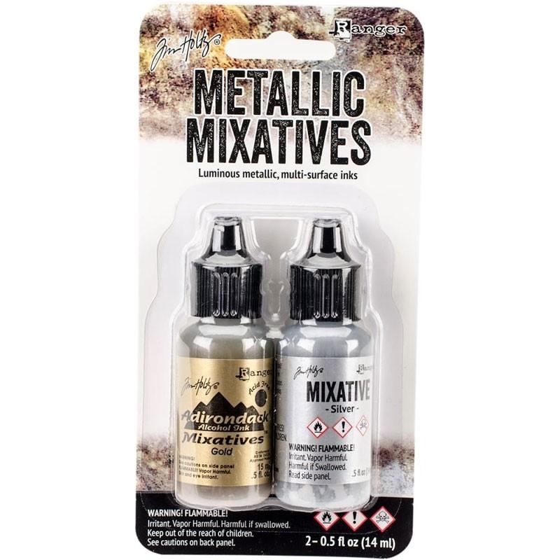 Tim Holtz Alcohol Ink Metallic Mixatives .5oz 2/Pkg