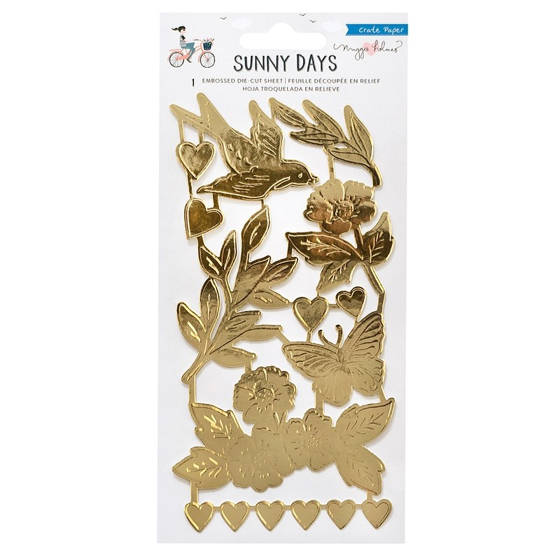 Crate Paper - Sunny Days Collection - Embossed Foil Die-Cuts