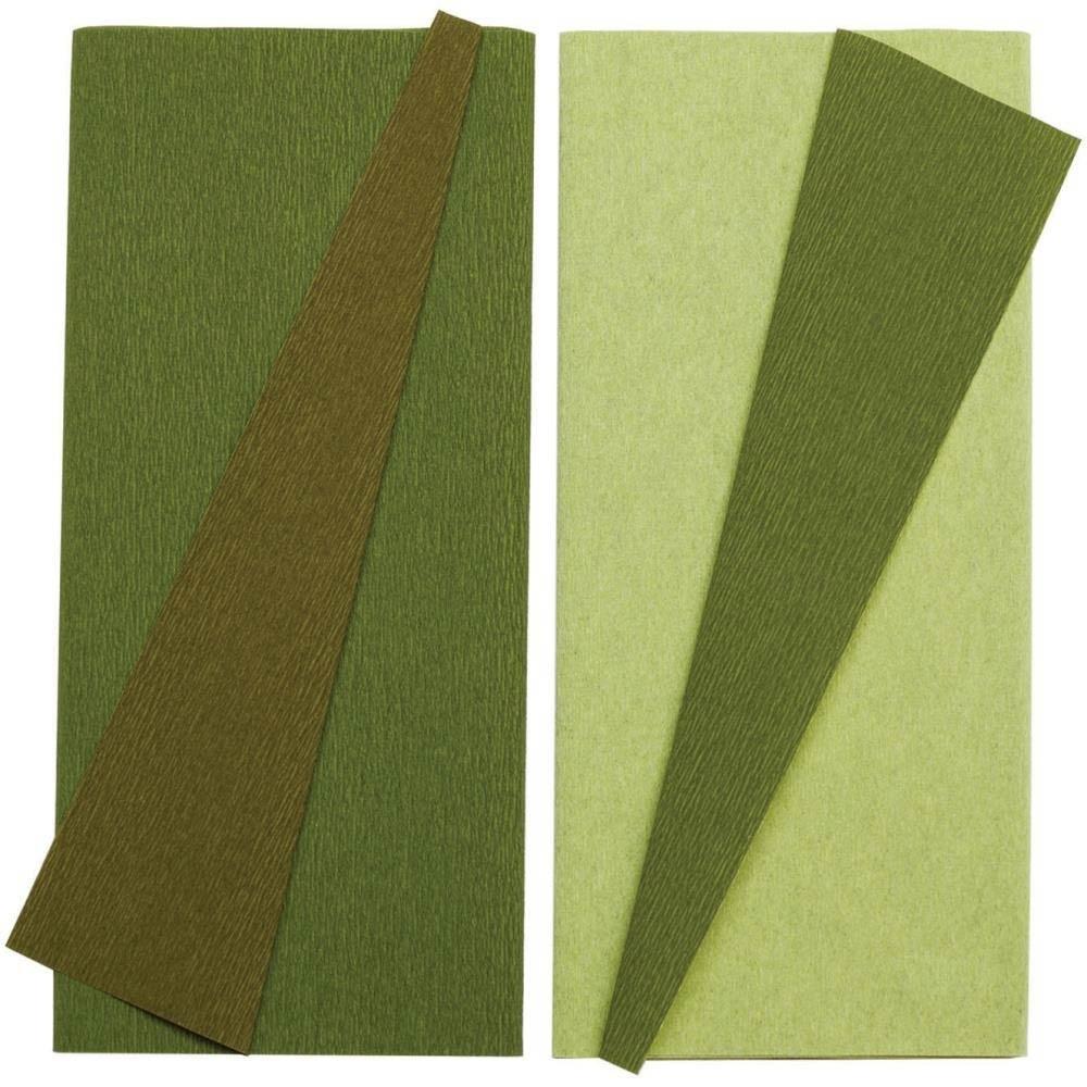 doublette crepe pape - green Tea/Cypress & Ferns/Moss