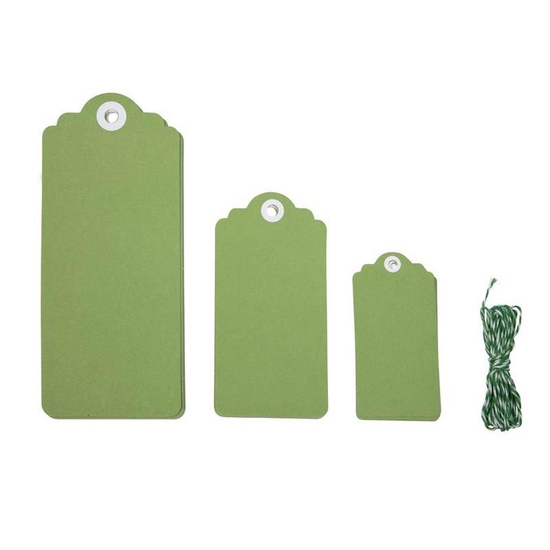 Green Tags + Twine