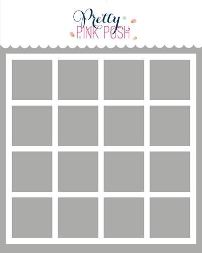 Pretty Pink Posh Grid Stencil