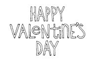 5501E - valentines day outline