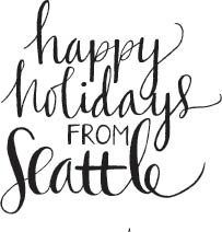 5762h - happy holidays from Seattle