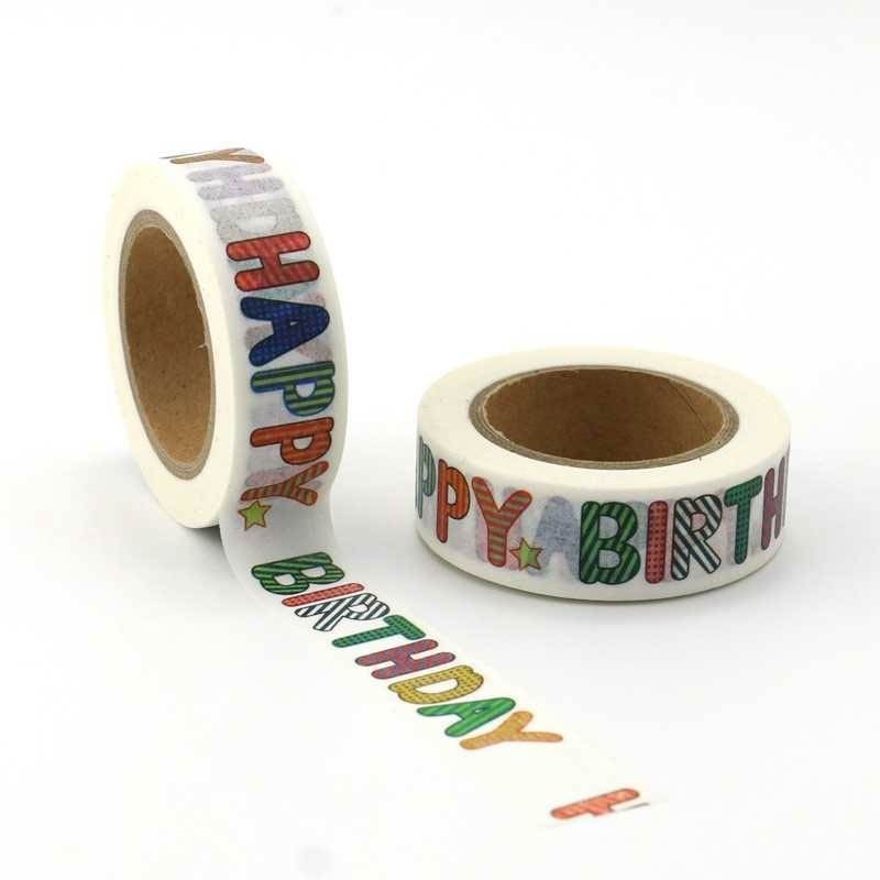 Happy Birthday Letters Washi Tape