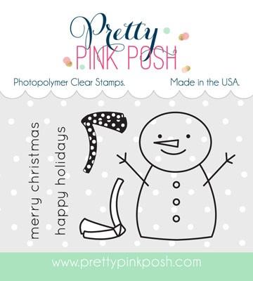 Pretty Pink Posh Happy Snowman Stamp Set
