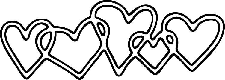 Impress String of Hearts Die