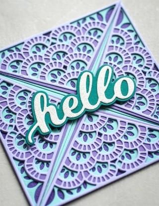 Birch Press Frilly Triangle Die set 56109