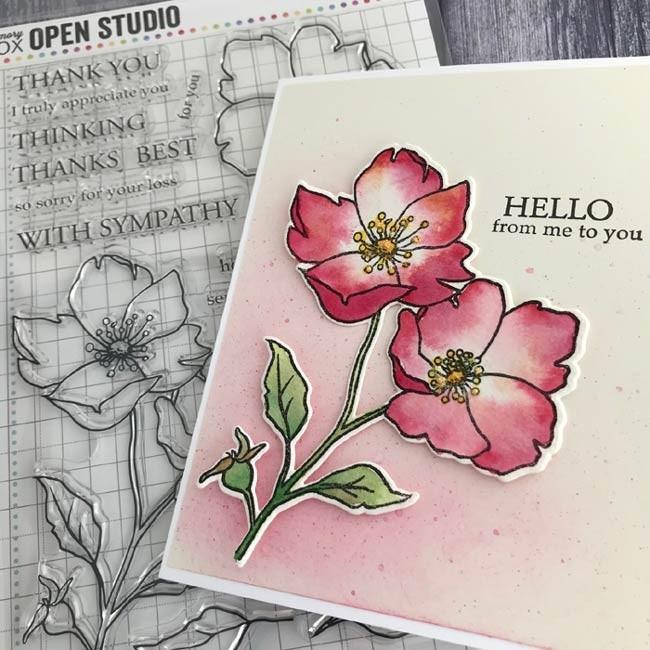 Memory Box  CL5258 Wild Rose Stem clear stamp set
