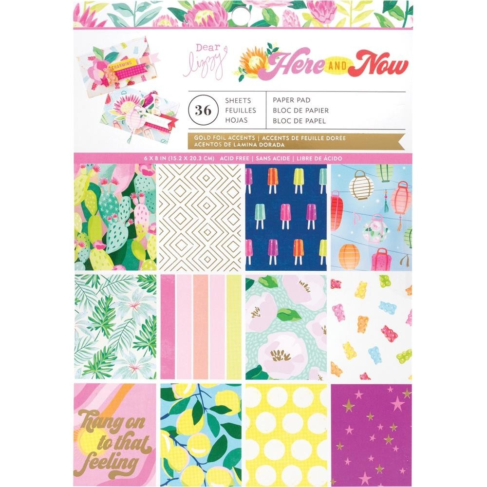 "American Crafts Here and Now single-sided Paper Pad 6""X8"" 36/Pkg"