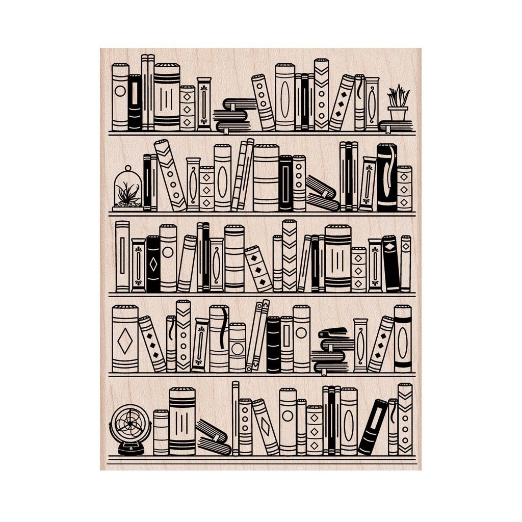 Hero Arts Bookcase Rubber Stamp