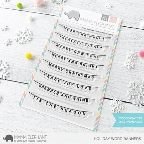 Mama Elephant Holiday Word Banner