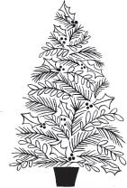 5761g - holiday tree rubberstamp