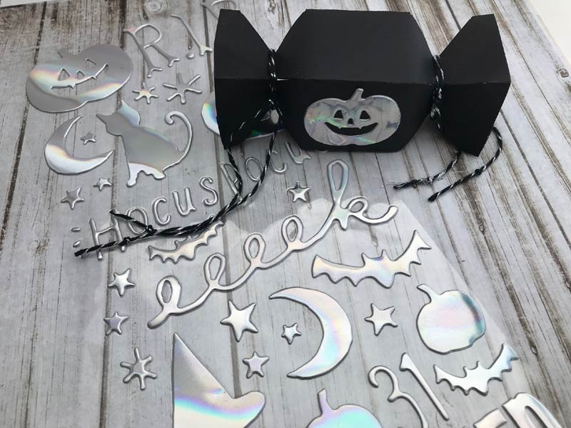 SALE -  Hey Pumpkin Thickers - Glossy Puffy with Holographic Foil Accents