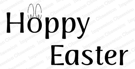 Hoppy Easter Rubber Stamp  iod20811
