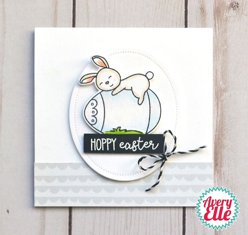 Avery Elle Hoppy Easter Clear Stamps