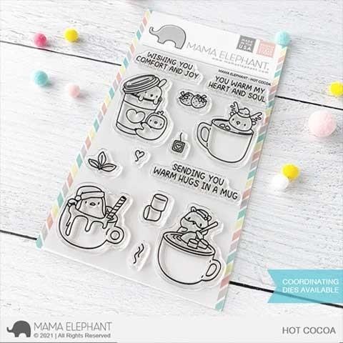 Mama Elephant Hot Cocoa Clear Stamp Set