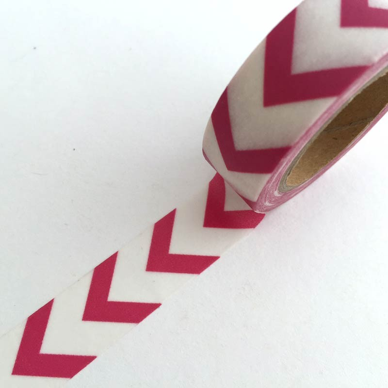 Hot Pink Chevron Washi Tape