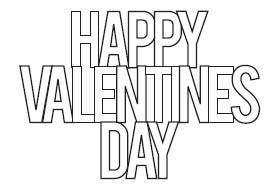 Happy Valentines Day Stacked Die (10215)